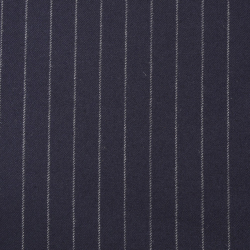 Navy Chalkstripe Suiting