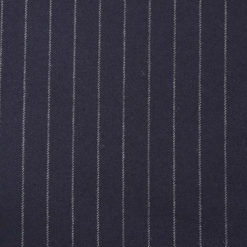 Navy Chalkstripe Suiting