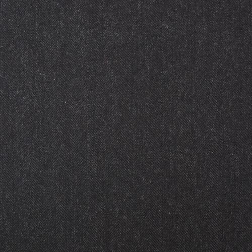 Nearly Black Herringbone Suiting