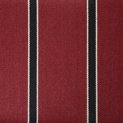 Claret Black White Striped Blazer Cloth