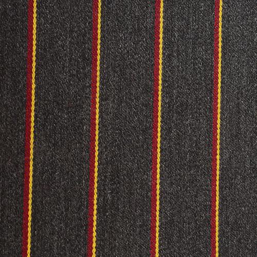 Grey Claret Yellow Striped Blazer