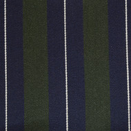 Navy Green White Striped Blazer Cloth