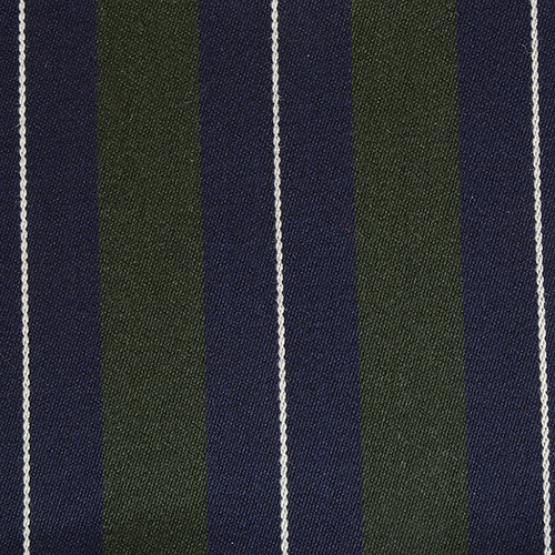 Navy Green White Striped Blazer Cloth