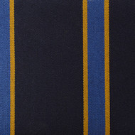 Navy Blue Yellow Striped Blazer Cloth