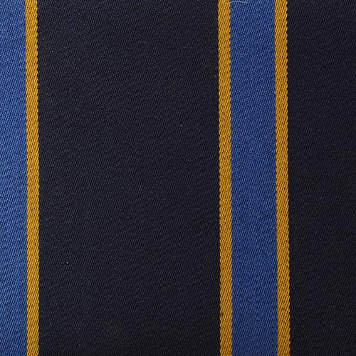 Navy Blue Yellow Striped Blazer Cloth