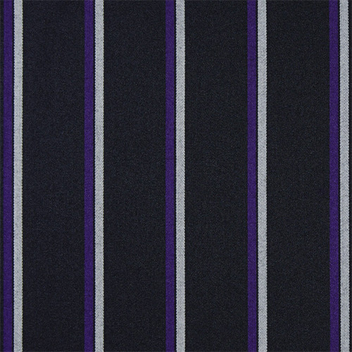 Black Purple White Striped Blazer Cloth