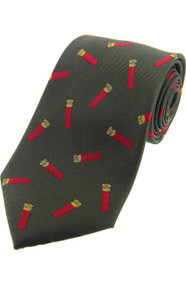 Woven Silk Gun Cartridges Tie -  Green