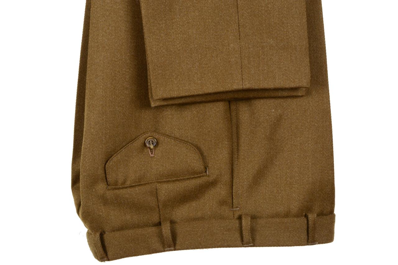 khaki Whipcord Trouser