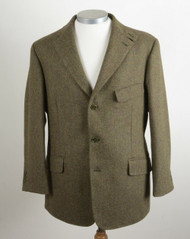 "BOOKSTER FOREST LEAF TWEED SHOOTING JACKET 42"" SHORT"