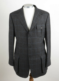 "BOOKSTER ERSKINE TWEED SHOOTING / NORFOLK JACKET 40"" LONG"