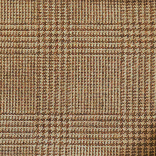 Glencoe Tweed - Brown Glen Check