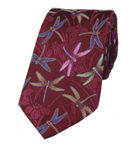 Woven Dragonfly silk tie