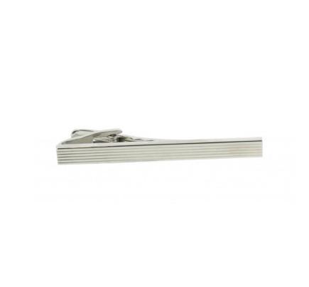 Silver Grill Tie Clip
