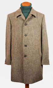 5 Button Trench Collar Tweed  Overcoat