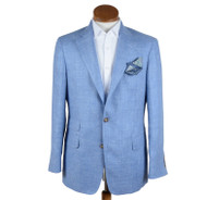 Blue Silk/Linen Jacket