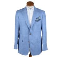 Blue Silk/Linen Jacket