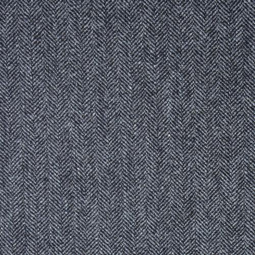 Dark Grey Herrinbone Tweed