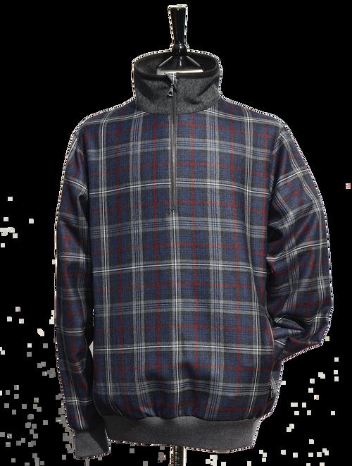 Warrior Poet Half Zip Wool Tartan Golf Jacket 1