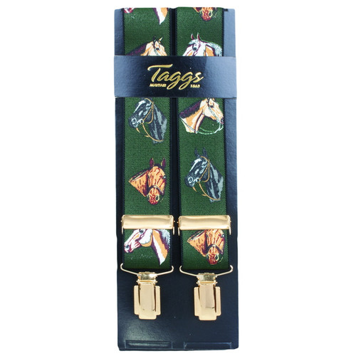 Taggs of Mayfair Horse Head Braces - Green