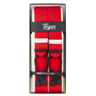 Taggs of Mayfair Luxury Braces with Leather Ends - Red