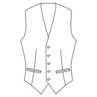 Made to Order Single Breasted Waistcoat - Suiting