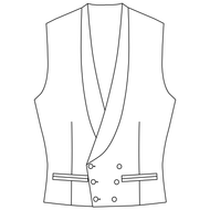 Made to Order Double Breasted Waistcoat - Tweed