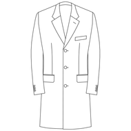 Made to Order Single Breasted Overcoat - Tweed