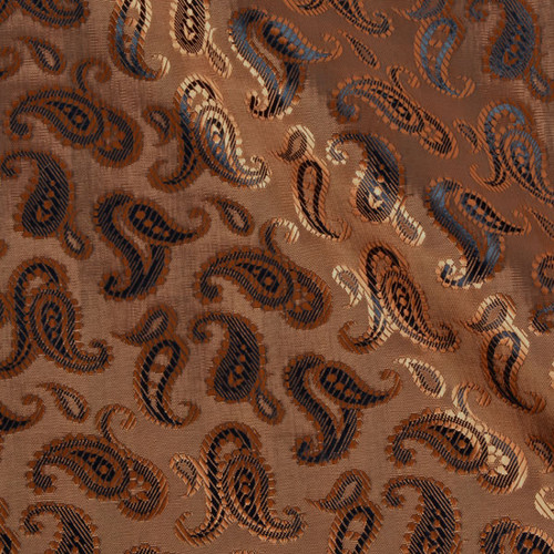 Bronze Paisley 50/50 Acetate Viscose