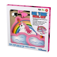 Me Time 3 Piece Meal Plate, Fork and Spoon Set - Unicorn
