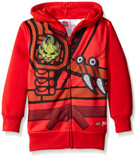 Lego Little Boys' Character Hoodie, Red, 5/6