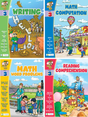 Smart Alec (3rd Grade) 4 Pack Learning Series, Includes: Writing, Math Readiness, Reading Readiness, Math Word Problems