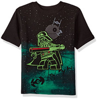 Star Wars Little Boys' Lego Darth Vader T-Shirt, Black, 5/6