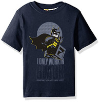 Lego Little Boys' I Only Work in Black T-Shirt, Navy, 5/6