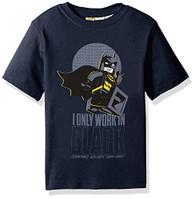 Lego Little Boys' I Only Work in Black T-Shirt, Navy, 5/6