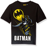 DC Comics Little Boys' Lego Batman T-Shirt, Black, 5/6
