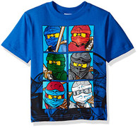 Lego Ninjago Little Boys' T-Shirt, Blue, 7