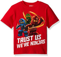 Lego Ninjago Big Boys' T-Shirt, Red, 10/12
