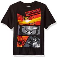 Lego Ninjago Little Boys' T-Shirt, Black, 4
