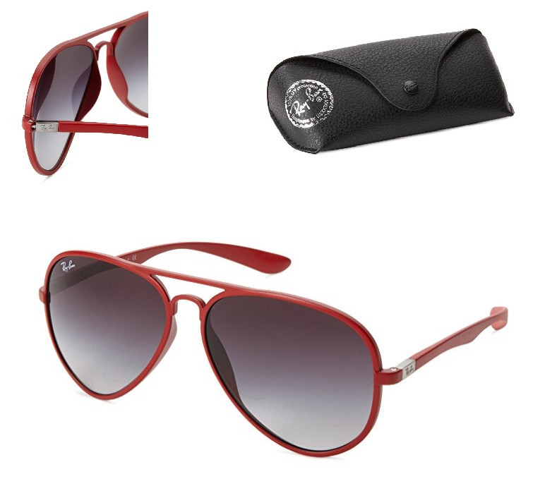 097918d2a6 Ray-Ban AVIATOR LITEFORCE - RED Frame GREY GRADIENT Lenses 58mm Non- Polarized. Price   189.95. Image 1