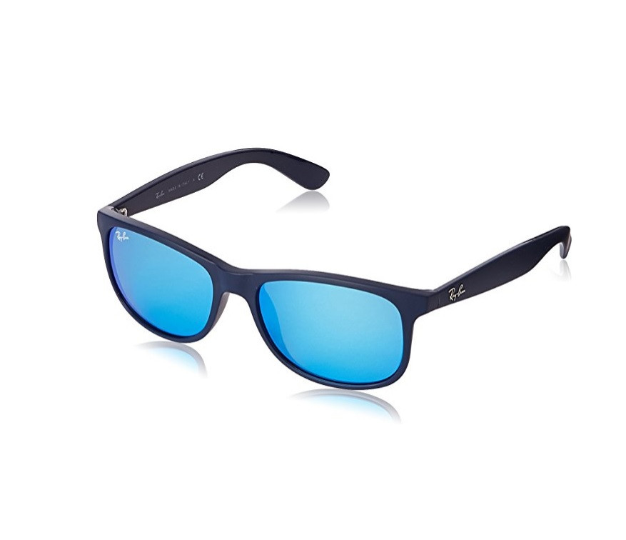 ad71fab38b5 Ray-Ban Andy - Matte Blue Frame Blue Mirror Lenses 55mm Non ...