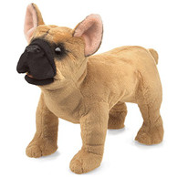 Folkmanis French Bulldog Hand Puppet Plush