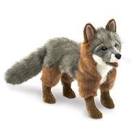 Folkmanis Gray Fox Hand Puppet