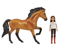 Breyer Spirit Riding Free - Spirit and Lucky Small Horse and Doll Toy Set