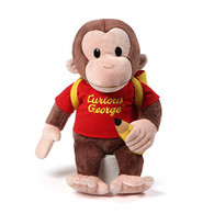 Gund Curious George Backpack Back to School Stuffed Plush Toy