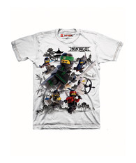 Lego The Ninjago Movie Little Boys' T-shirt, White (7)