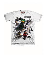 Lego The Ninjago Movie Little Boys' T-shirt, White (7)