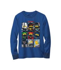 The Lego Ninjago Movie Long Sleeved Shirt, Size 5/6 Little Boys, 100% Cotton (Blue)