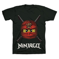 LEGO Ninjago Ready to Battle Face, Boys, Size 5/6 (Black)
