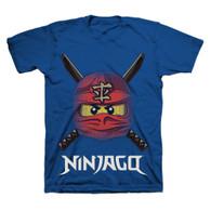 LEGO Ninjago Ready to Battle Face, Boys, Size 5/6 (Blue)