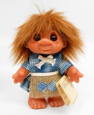 DAM Forest Brown Hair Girl Troll 7 inch